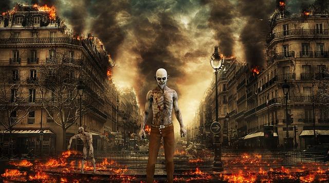 Des zombies de Resident Evil